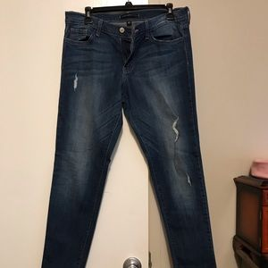Flying Monkey Distressed Skinny Jeans Size 28